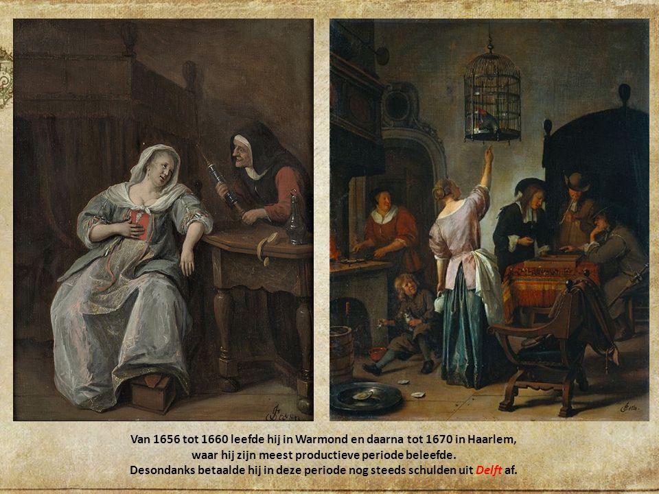 Steen verhuisde naar alle waarschijnlijkheid naar Delft, waar hij de herberg De Slange zonder veel succes runde.