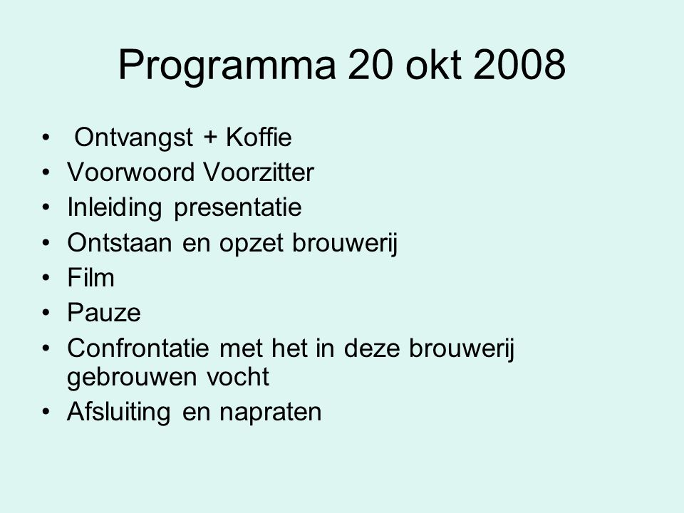Brouwerij de Praght Gepresenteerd door : Aart Vos Rosalie Vos Aad van 't Hof