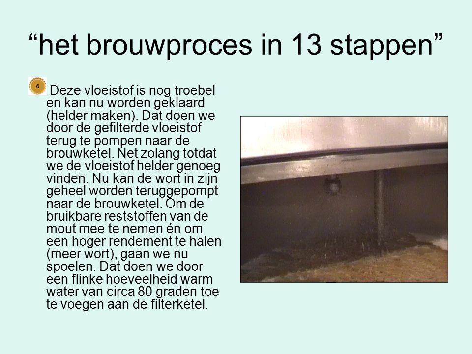 het brouwproces in 13 stappen De mouten hebben hun werk gedaan en kunnen worden verwijderd.
