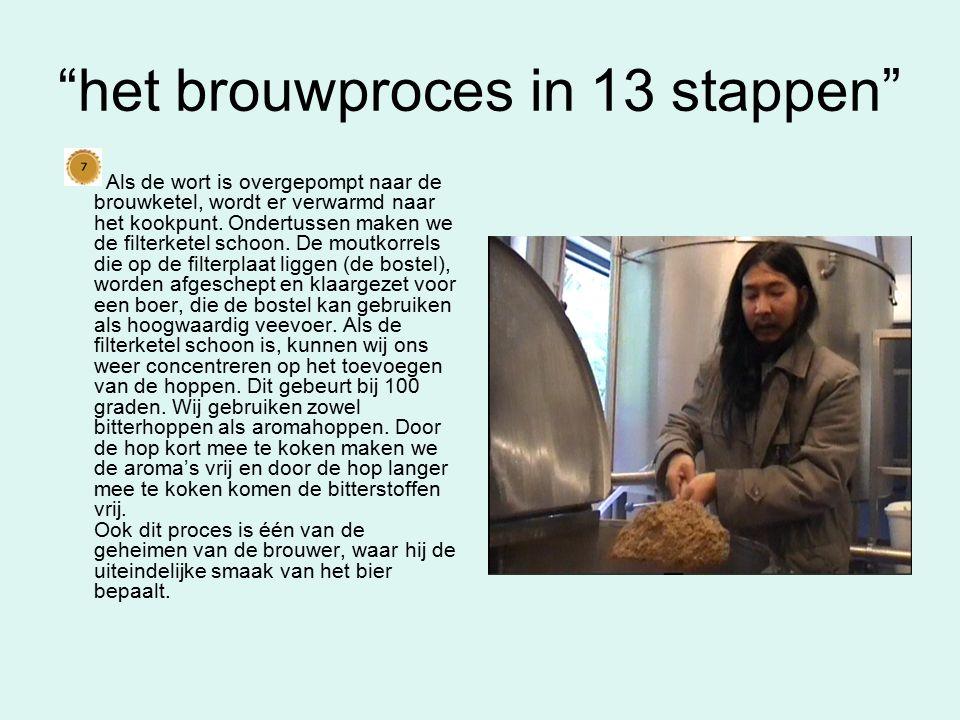 het brouwproces in 13 stappen Deze vloeistof is nog troebel en kan nu worden geklaard (helder maken).