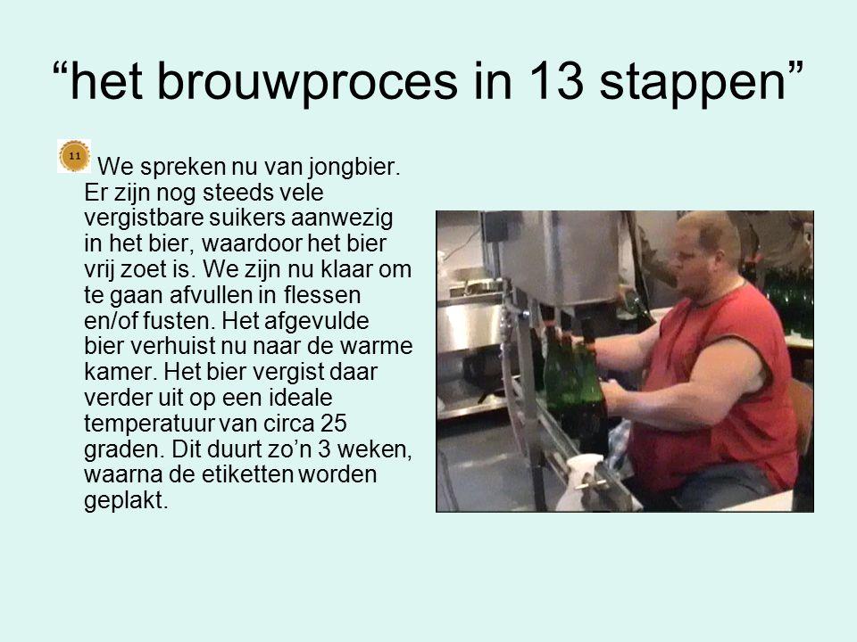 het brouwproces in 13 stappen Het bier wordt na de hoofdgisting verplaatst naar de lagertanks.
