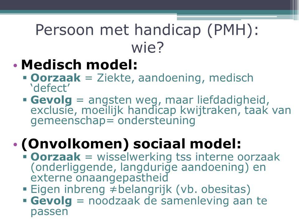Persoon met handicap (PMH): wie.