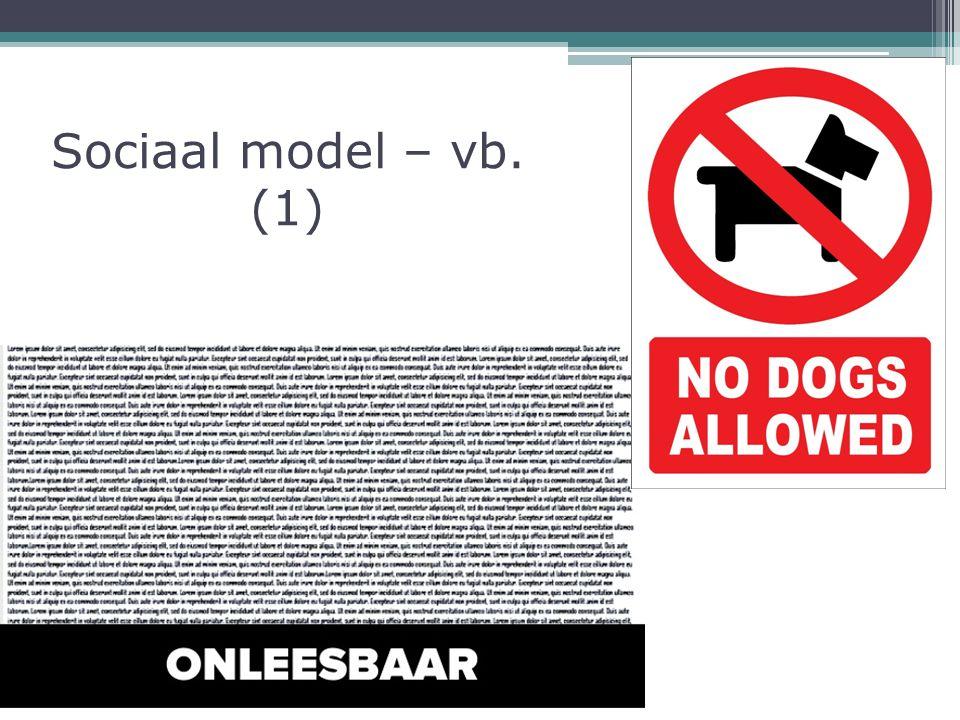 Sociaal model – vb. (1)