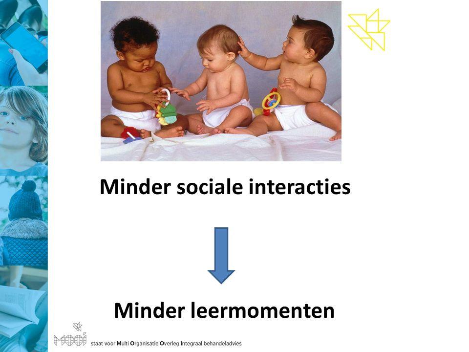 Minder sociale interacties Minder leermomenten