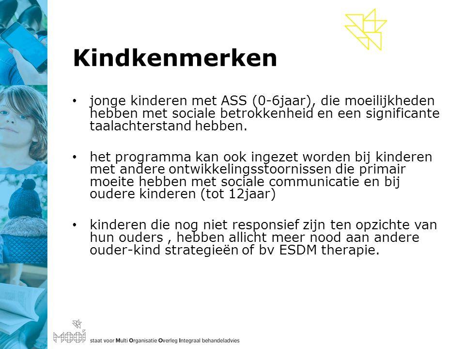 Kindkenmerken jonge kinderen met ASS (0-6jaar), die moeilijkheden hebben met sociale betrokkenheid en een significante taalachterstand hebben.