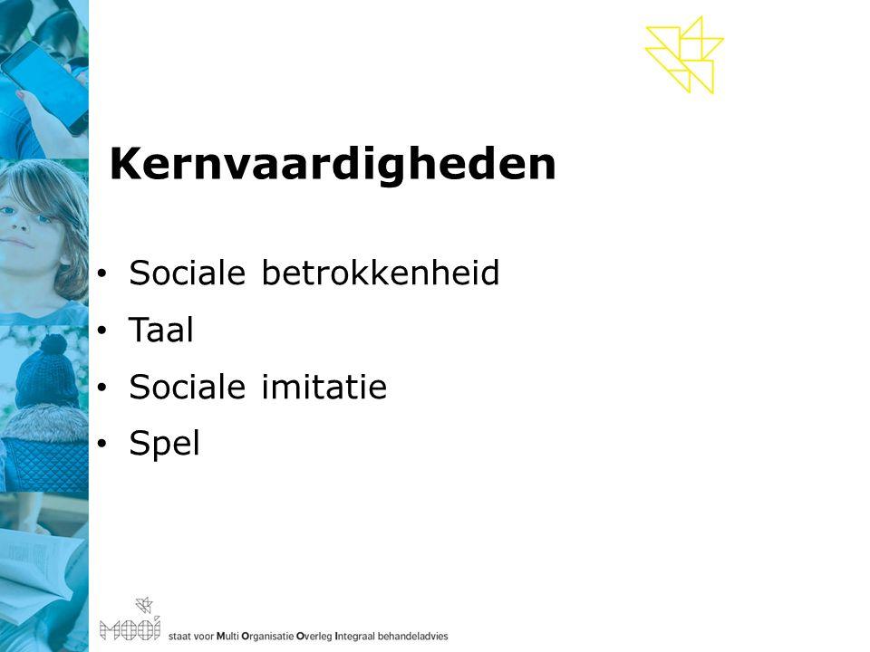 Kernvaardigheden Sociale betrokkenheid Taal Sociale imitatie Spel