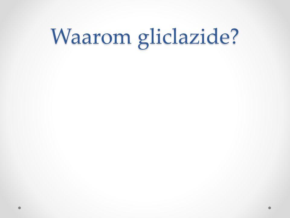 Waarom gliclazide?