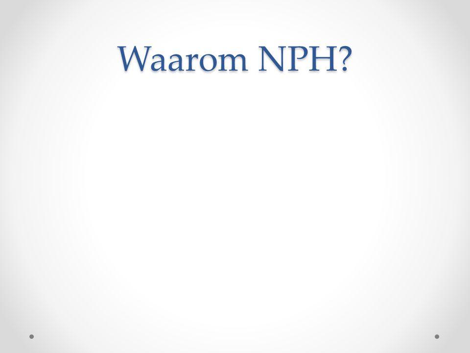 Waarom NPH?