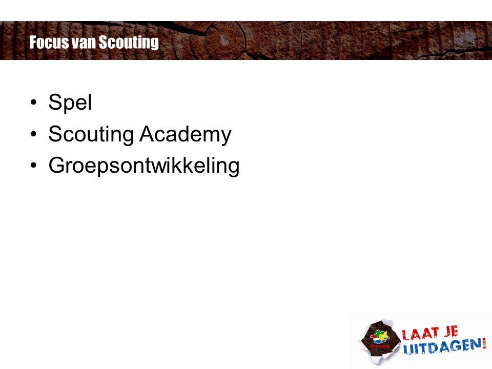 Focus van Scouting Spel Scouting Academy Groepsontwikkeling