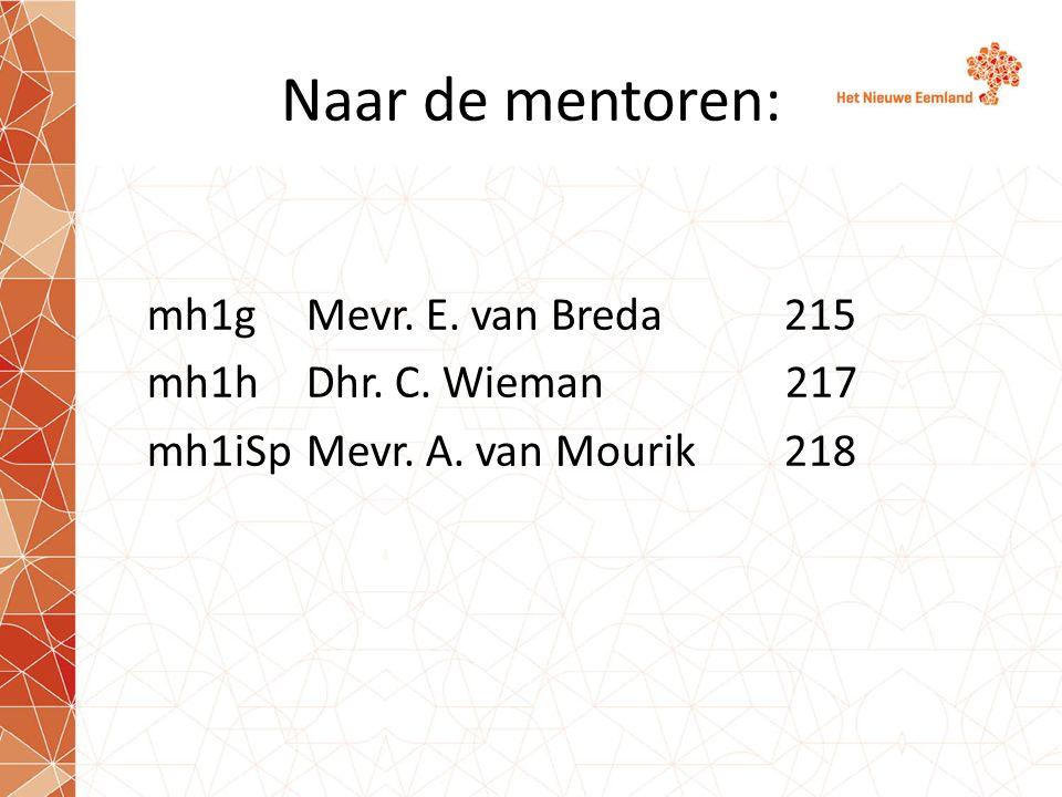Naar de mentoren: mh1g Mevr. E. van Breda215 mh1hDhr. C. Wieman 217 mh1iSpMevr. A. van Mourik218