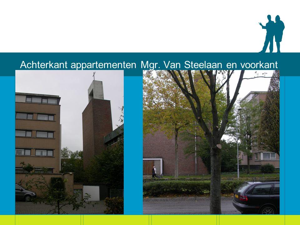 Achterkant appartementen Mgr. Van Steelaan en voorkant