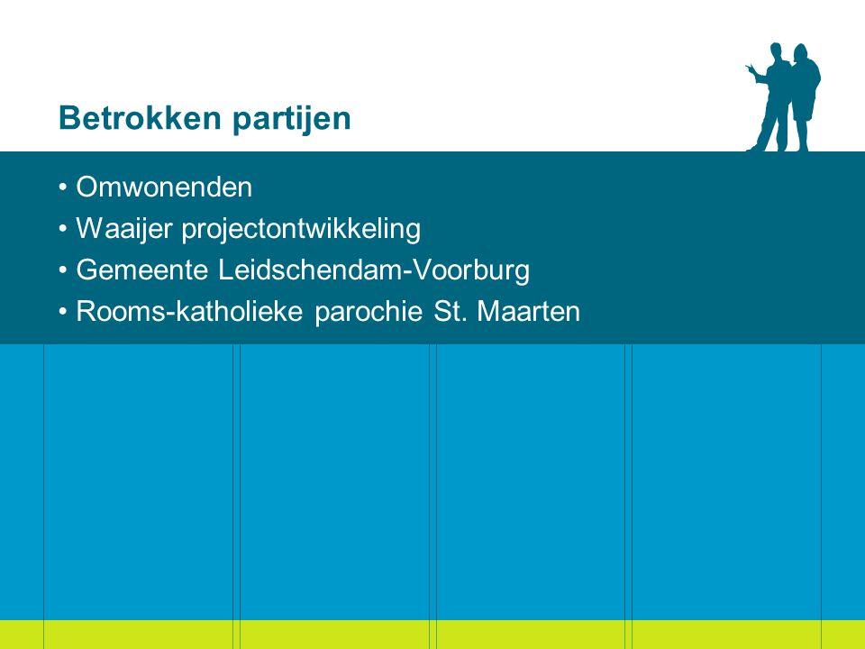 Betrokken partijen Omwonenden Waaijer projectontwikkeling Gemeente Leidschendam-Voorburg Rooms-katholieke parochie St.