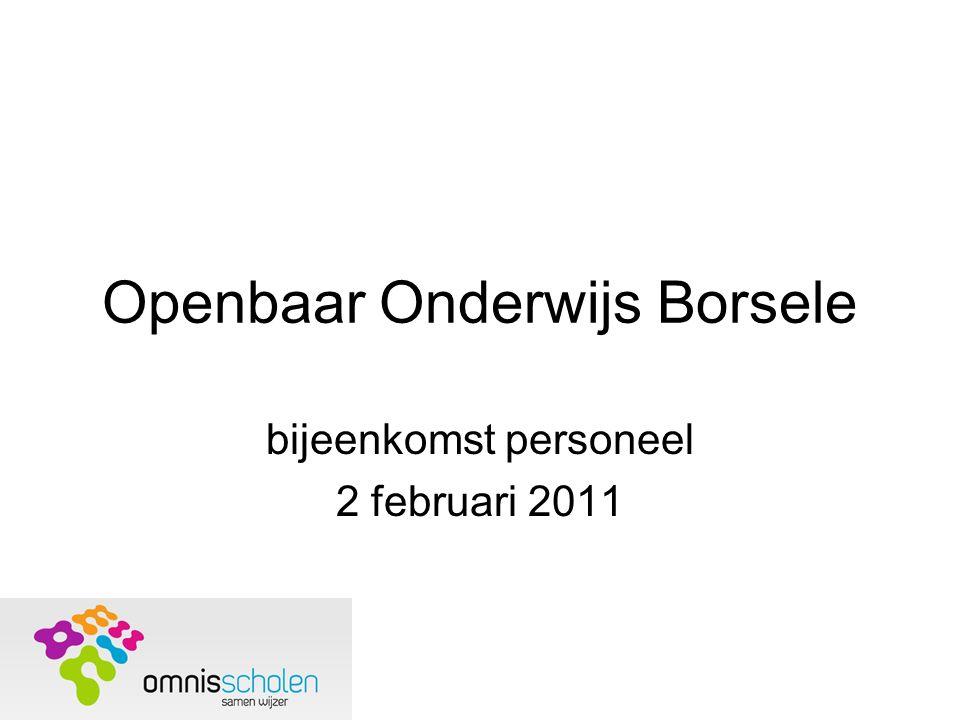 Openbaar Onderwijs Borsele bijeenkomst personeel 2 februari 2011