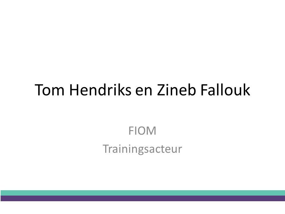 Tom Hendriks en Zineb Fallouk FIOM Trainingsacteur