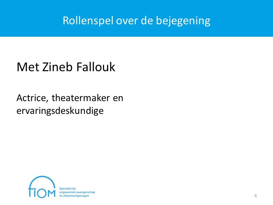 Rollenspel over de bejegening 6 Met Zineb Fallouk Actrice, theatermaker en ervaringsdeskundige