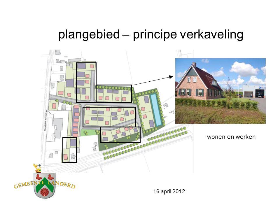 16 april 2012 wonen- en werken in één gebouw mogelijkheid van wonen en werken