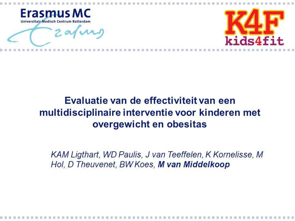 Evaluatie van de effectiviteit van een multidisciplinaire interventie voor kinderen met overgewicht en obesitas KAM Ligthart, WD Paulis, J van Teeffel