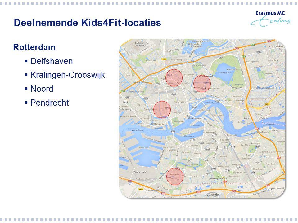 Deelnemende Kids4Fit-locaties Rotterdam  Delfshaven  Kralingen-Crooswijk  Noord  Pendrecht
