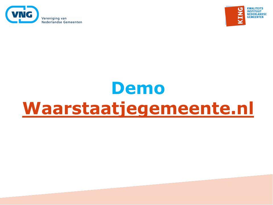 Demo Waarstaatjegemeente.nl Waarstaatjegemeente.nl