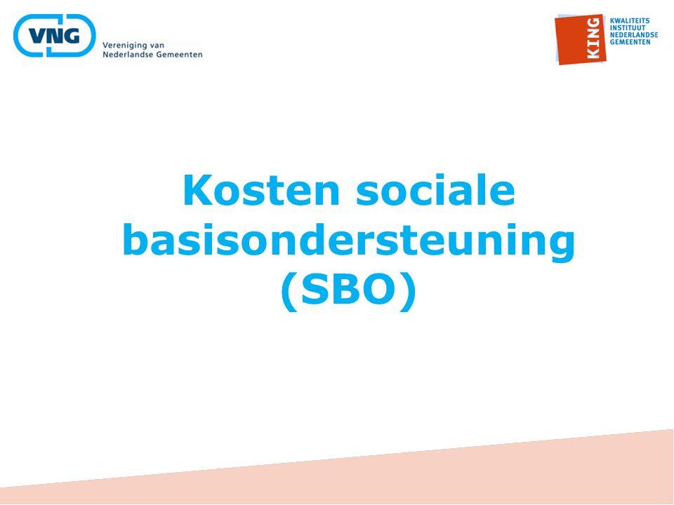 Kosten sociale basisondersteuning (SBO)