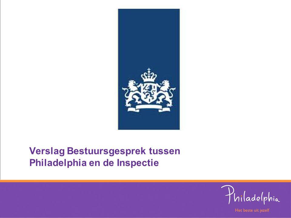 Verslag Bestuursgesprek tussen Philadelphia en de Inspectie