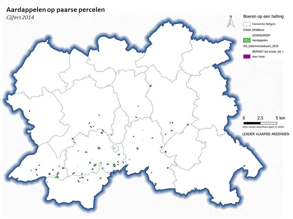 Aardappelen op paarse percelen Cijfers 2014