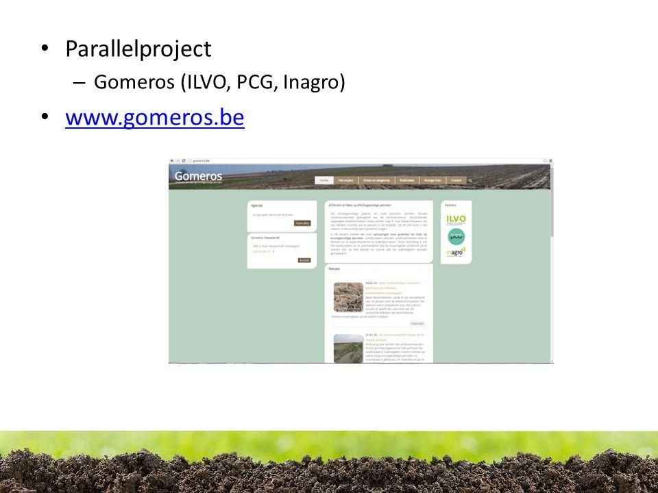 Parallelproject – Gomeros (ILVO, PCG, Inagro) www.gomeros.be