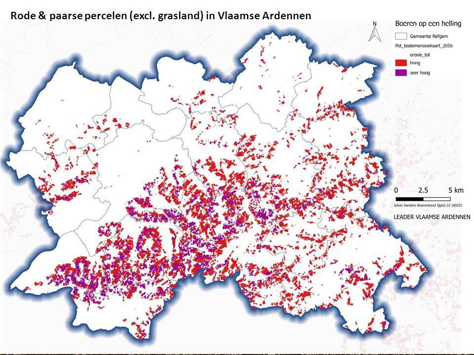 Huidige situatie Kaartjes Johan Rode & paarse percelen (excl. grasland) in Vlaamse Ardennen
