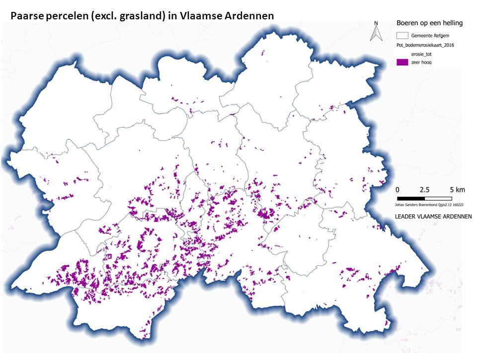 Paarse percelen (excl. grasland) in Vlaamse Ardennen