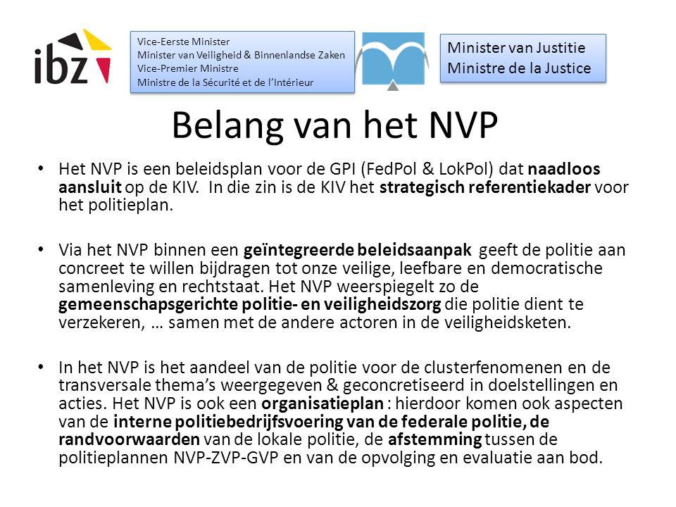 Belang van het NVP Het NVP is een beleidsplan voor de GPI (FedPol & LokPol) dat naadloos aansluit op de KIV. In die zin is de KIV het strategisch refe