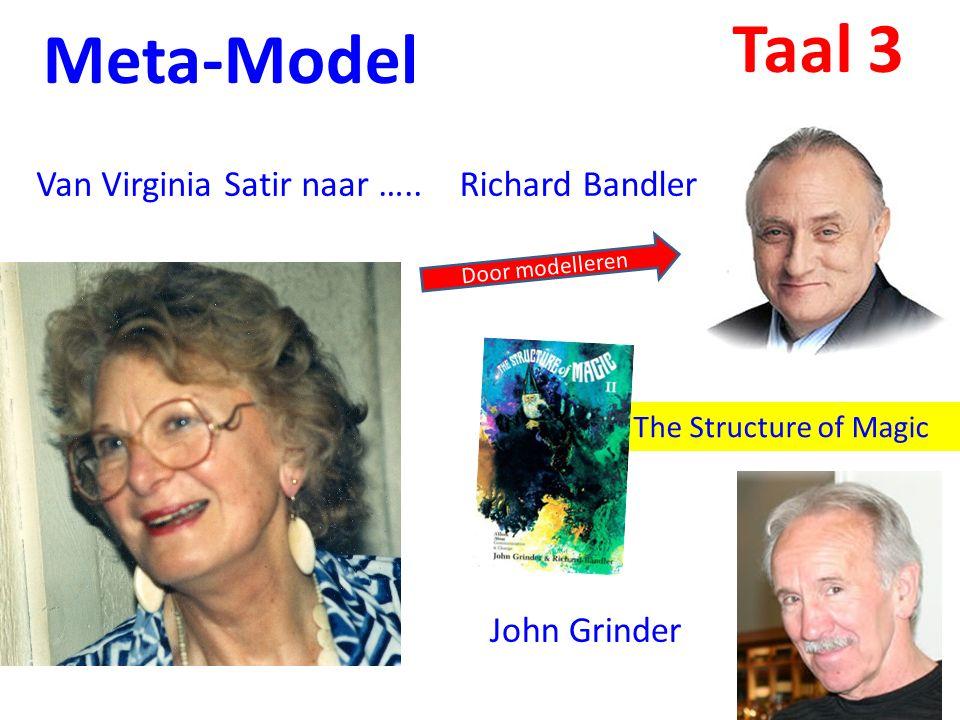 Meta-Model Van Virginia Satir naar …..Richard Bandler John Grinder The Structure of Magic Door modelleren Taal 3