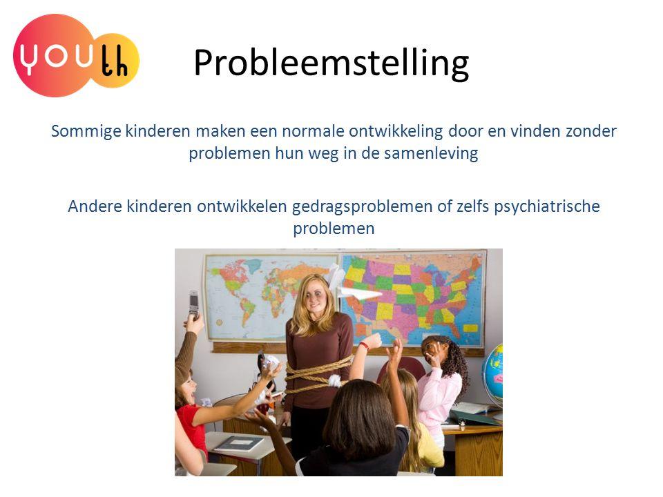 Probleemstelling Sommige kinderen maken een normale ontwikkeling door en vinden zonder problemen hun weg in de samenleving Andere kinderen ontwikkelen