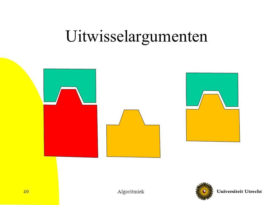 Uitwisselargumenten Algoritmiek49