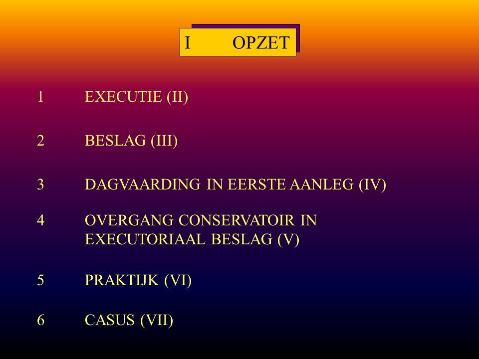 3 EXECUTIE (=TENUITVOERLEGGING) INDIRECTDIRECT REËELVERHAAL PARAATBESLAG 585 en 611a Rv 3:248 en 3:268 BWBoek II Rv 3:299 en 300 BW 491 en 555 Rv