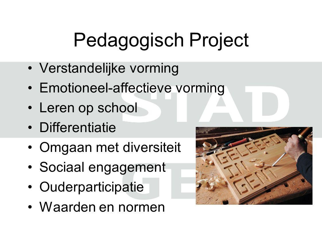 Pedagogisch Project Verstandelijke vorming Emotioneel-affectieve vorming Leren op school Differentiatie Omgaan met diversiteit Sociaal engagement Ouderparticipatie Waarden en normen