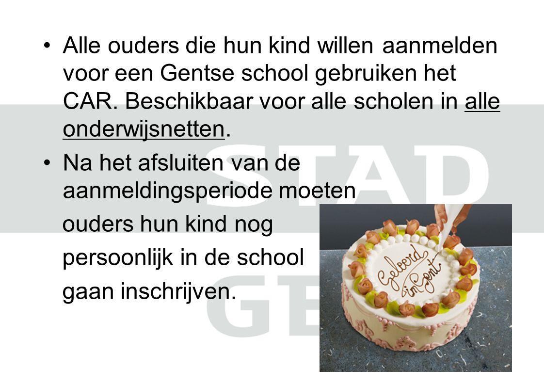 Alle ouders die hun kind willen aanmelden voor een Gentse school gebruiken het CAR.