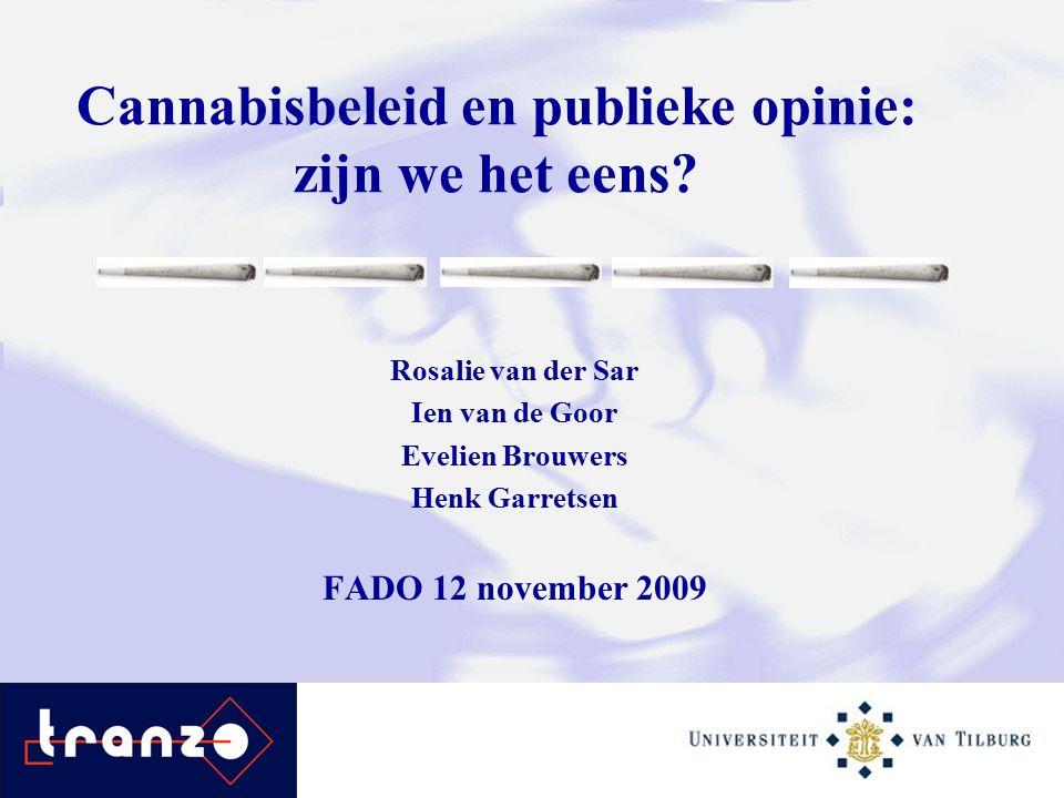Cannabisbeleid en publieke opinie: zijn we het eens.