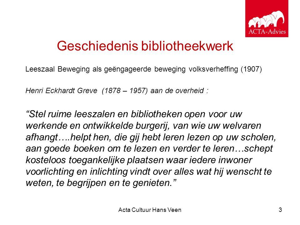 Acta Cultuur Hans Veen14