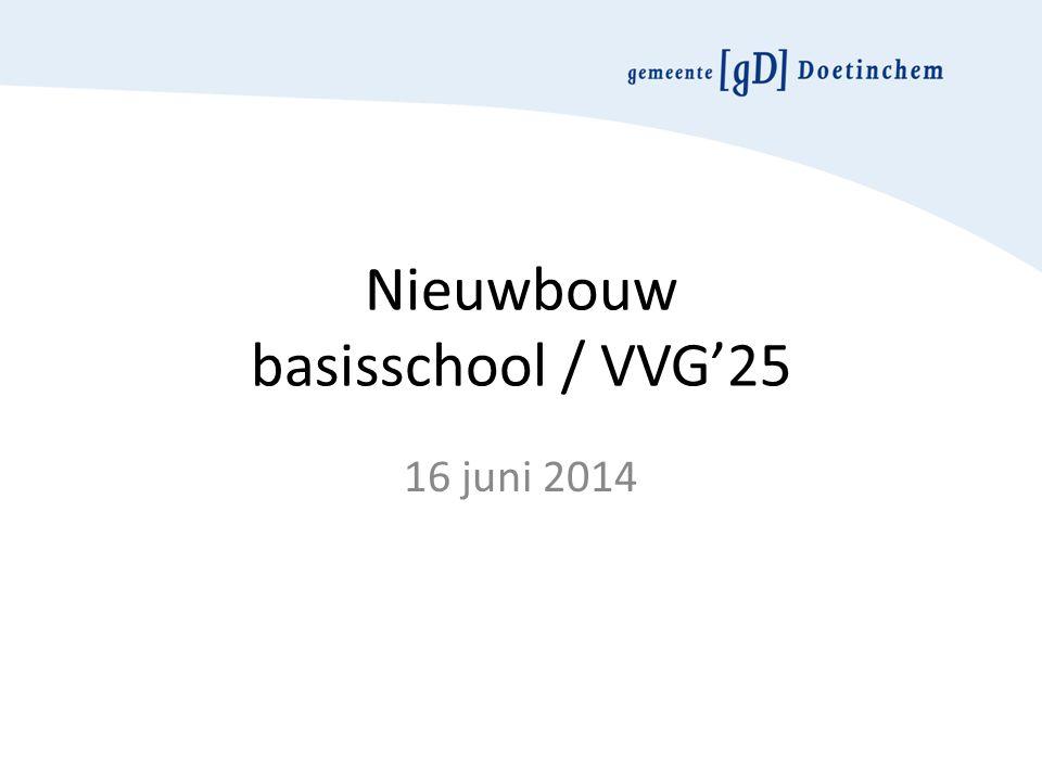 Nieuwbouw basisschool / VVG'25 16 juni 2014