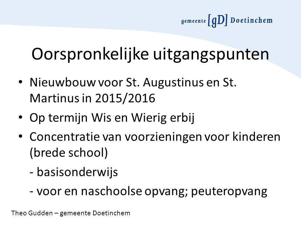 Oorspronkelijke uitgangspunten Nieuwbouw voor St. Augustinus en St.