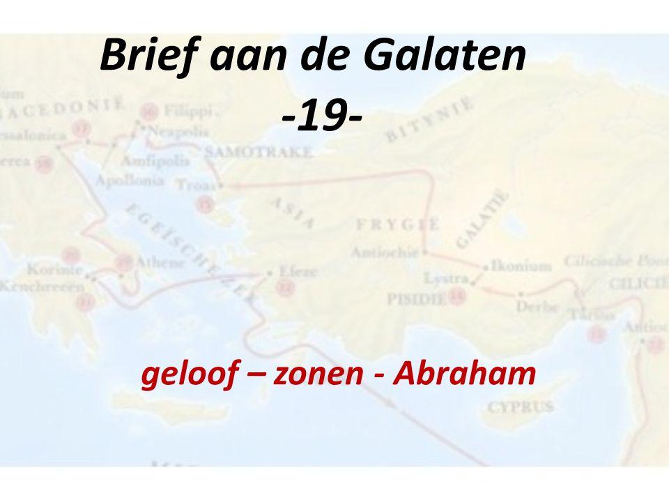 Natiën worden gerechtvaardigd uit geloof en niet uit werken Geloof + werken is voor de nakomelingen in het geloof van Abraham met een aardse bestemming Jakobus 2:22