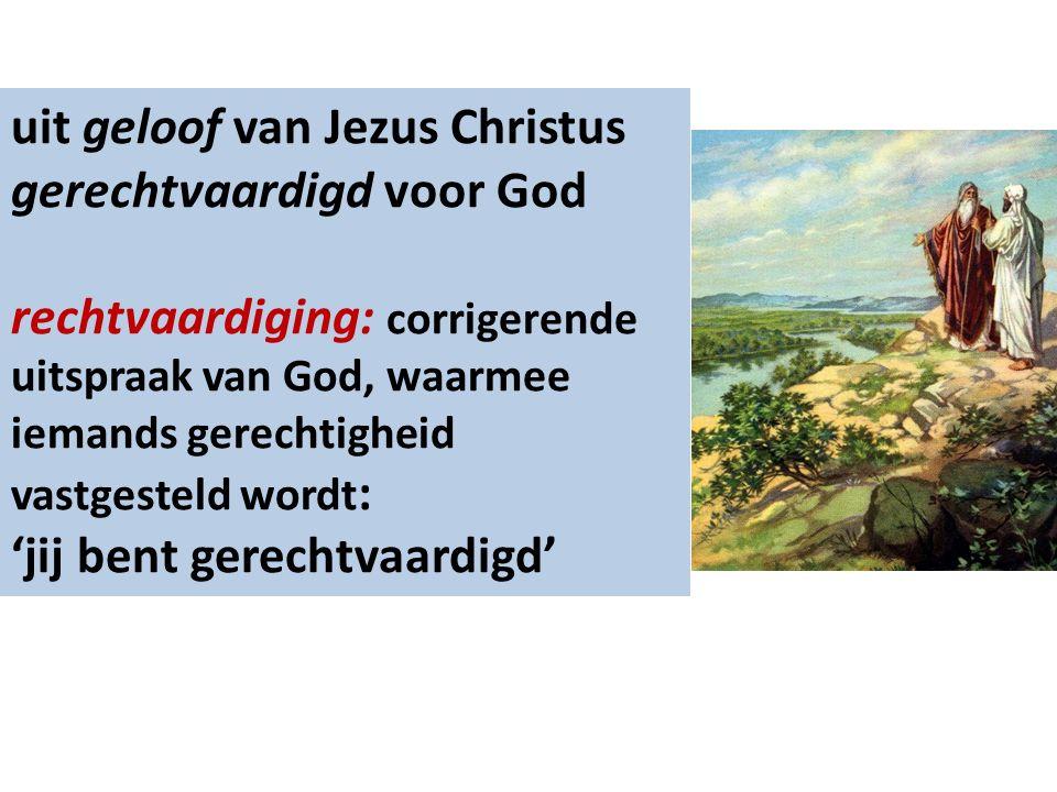 …wie uit de werken van de wet zijn: vloek …zij die uit geloof zijn: zegen Want al wie uit de werken van de wet zijn, zijn onder een vloek Galaten 3:10