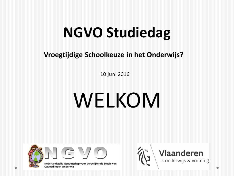Simon Steen Voorzitter NGVO Welkom Geert Devos Dagvoorzitter Bellon-centrum van de Vakgroep Onderwijskunde, Universiteit Gent, bestuurslid NGVO