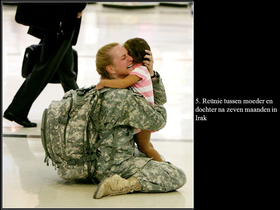 5. Reünie tussen moeder en dochter na zeven maanden in Irak