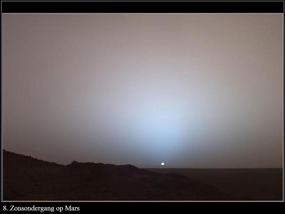 8. Zonsondergang op Mars