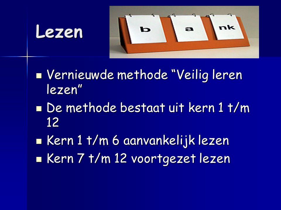 """Lezen Vernieuwde methode """"Veilig leren lezen"""" Vernieuwde methode """"Veilig leren lezen"""" De methode bestaat uit kern 1 t/m 12 De methode bestaat uit kern"""