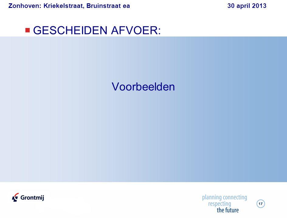 Zonhoven: Kriekelstraat, Bruinstraat ea 30 april 2013 17  GESCHEIDEN AFVOER: Voorbeelden