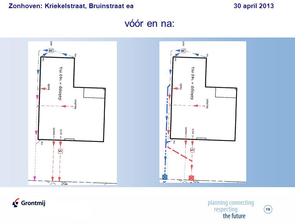 Zonhoven: Kriekelstraat, Bruinstraat ea 30 april 2013 19 vóór en na: