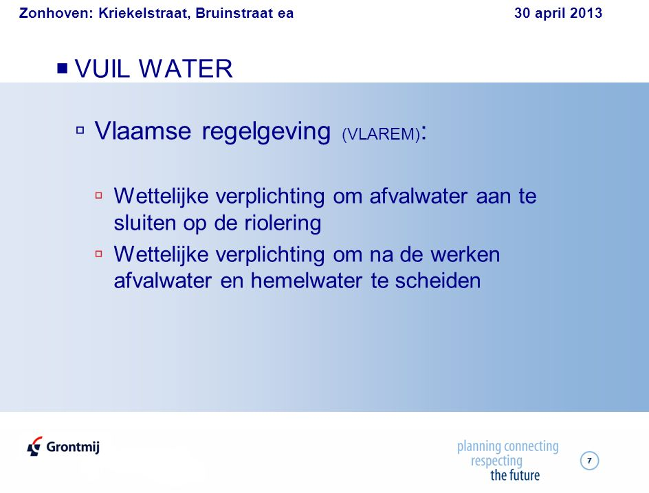 Zonhoven: Kriekelstraat, Bruinstraat ea 30 april 2013 18 vóór en na: