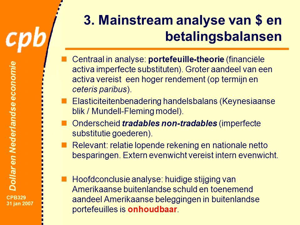 Dollar en Nederlandse economie CPB329 31 jan 2007 3.